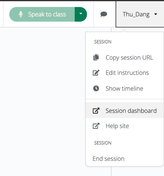 Sanako Connect_Open session dashboard